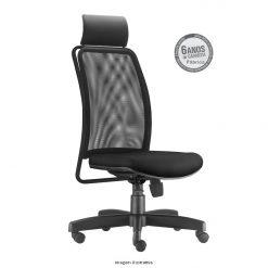 Cadeira Soul Presidente sem bracos preta com apoio de cabeca 247x247 - Cadeira Soul Presidente Giratória com Apoio de Cabeça