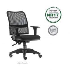 Cadeira Soul executiva giratoria preta com bracos 247x247 - Cadeira Soul Diretor Giratória Ergonômica