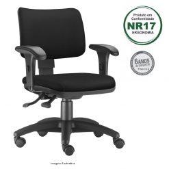 Cadeira Zip giratoria estofada com bracos 247x247 - Cadeira Zip Executiva Giratória Ergonômica Estofada