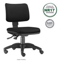 Cadeira Zip giratoria estofada sem bracos 247x247 - Cadeira Zip Executiva Giratória Ergonômica Estofada