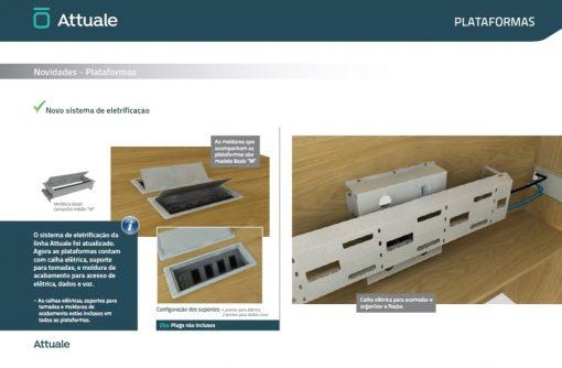 Detalhe caixas e calha linha Attuale plataformas 510x334 - PLATAFORMA DE TRABALHO ATTUALE RETA DUPLA