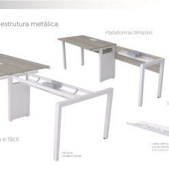Plataforma de Trabalho Prima Pes Metalicos Especificacoes Tecnicas 247x247 - PLATAFORMA DE TRABALHO PRIMA RETA DUPLA COM PÉS METÁLICOS
