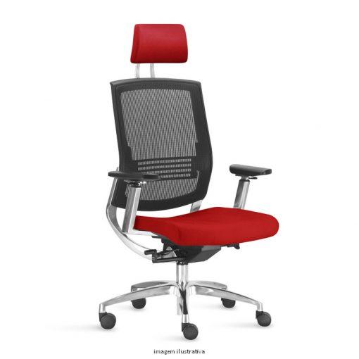 Cadeira Fit Air Sittz Vermelha 510x510 - Poltrona Fit Air Sittz com apoio de cabeça