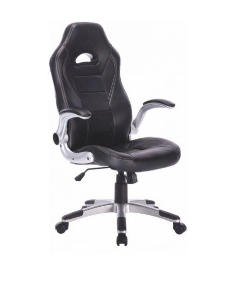 Cadeira Gamer CS 1005 510x576 - Cadeira Gamer CS1005 com apoio para os pés na base
