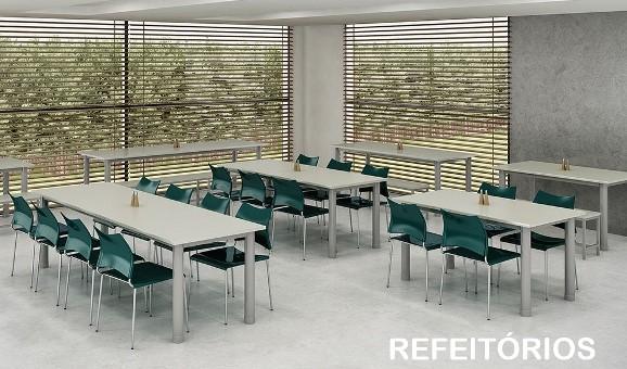 Mesa para Refeitorio Ambiente 1 - Catálogos