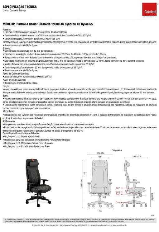 Way Gamer descritivo tecnico 510x745 - CAVALETTI WAY GAMER